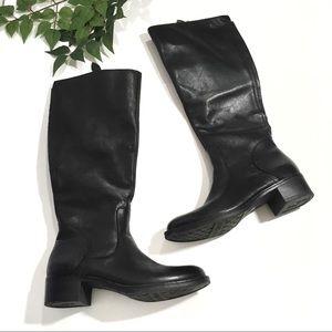 Franco Sarto 6 Black Leather Carta Riding Boots